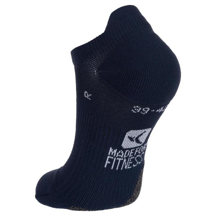 Sportsocken Cardio Fitness 2er-Pack Invisible blau