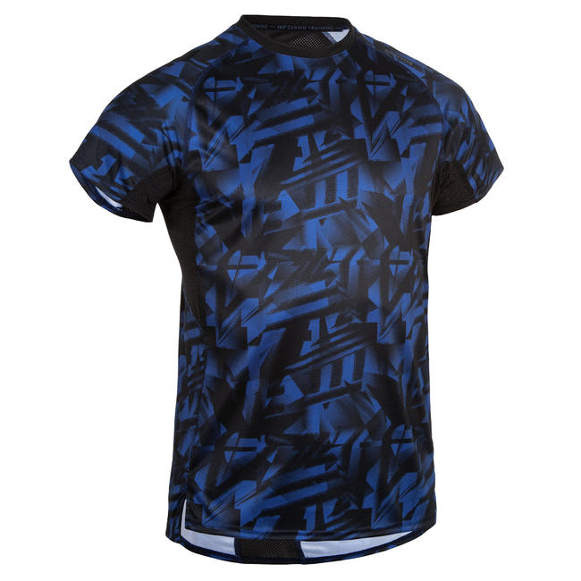 Men's Occasional Fitness T-Shirt - Printed Blue