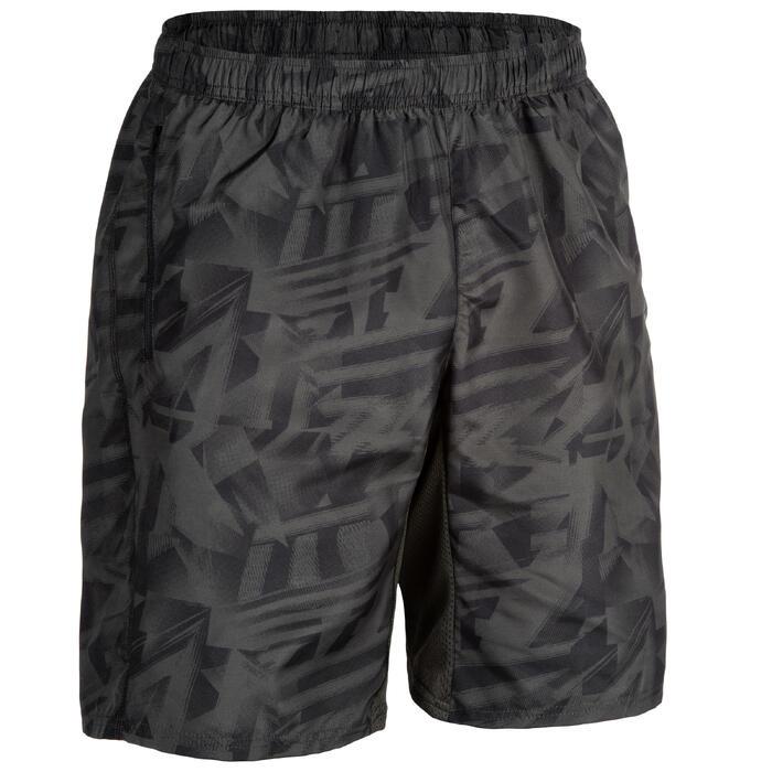 Sporthose kurz Shorts FST 120 Fitness Cardio Herren khaki AOP