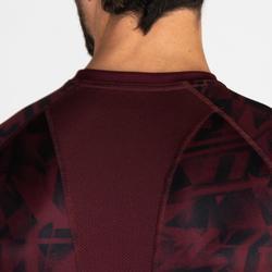 T-Shirt FTS 120 Fitness Cardio Herren bordeaux meliert