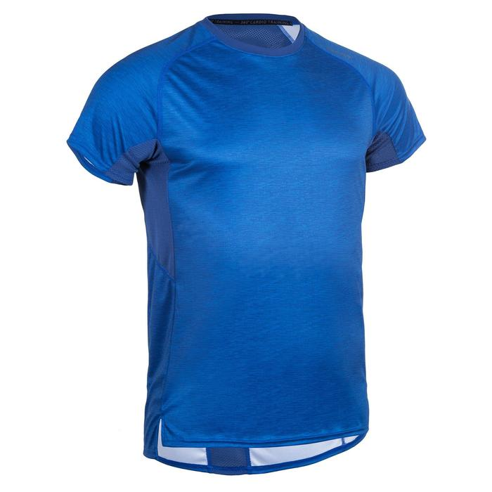 FTS 120 Fitness Cardio Training T-Shirt - Mottled Blue