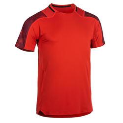 Camiseta fitness cardio-training hombre FTS 500 rojo