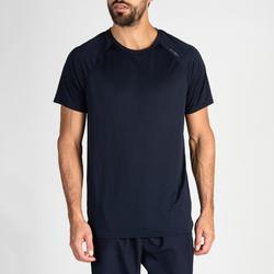 Camiseta manga corta Cardio Fitness Domyos FTS 100 hombre azul marino