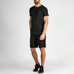 Camiseta Manga Corta Fitnes Cardio Domyos Hombre Negro FTS 920