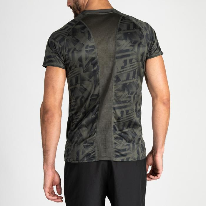 Tee shirt cardio fitness training homme FTS 120 khaki AOP