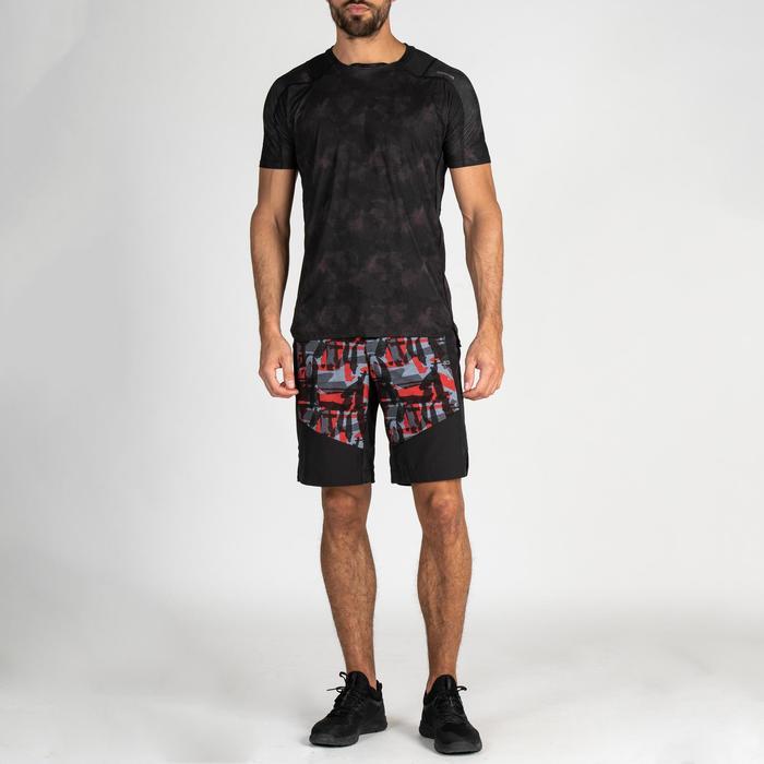 Sporthose kurz FST 500 Fitness Cardio AOP Herren rot