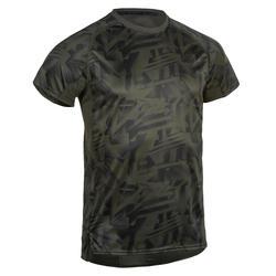 Camiseta cardio fitness training hombre FTS 120 caqui AOP