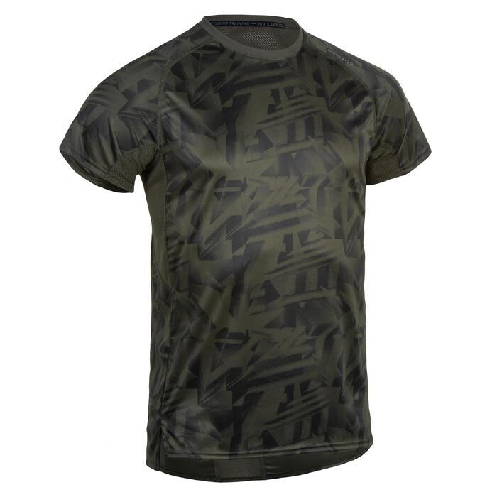 Fitness shirt FTS 120 voor heren, kaki