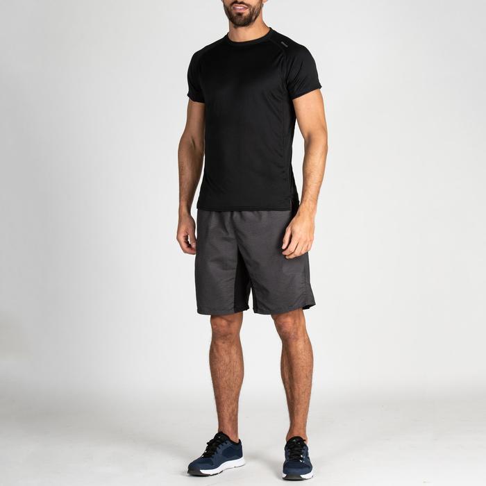 Cardiofitness T-shirt heren FTS 120 zwart effen