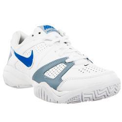 Tennisschoenen kinderen City Court 7 allcourt wit/blauw