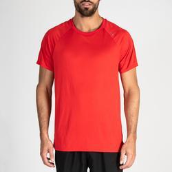 Camiseta manga corta Cardio Fitness Domyos FTS 100 hombre rojo
