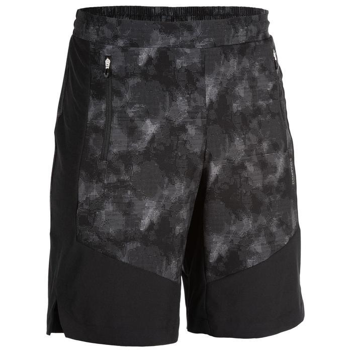Sportbroekje fitness FST 500 voor heren, zwart/grijs