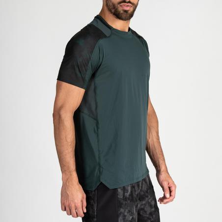 FTS 500 Fitness Cardio Training T-Shirt - Khaki/Green