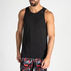 Camiseta sin mangas Tirantes Cardio Fitness Domyos 500 hombre negro