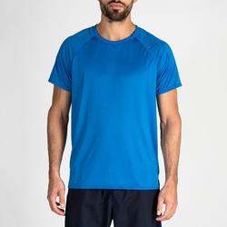 Camiseta manga corta Cardio Fitness Domyos FTS 100 hombre azul