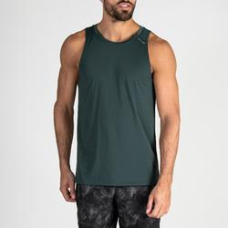 Camiseta sin mangas Tirantes Cardio Fitness Domyos 500 hombre verde