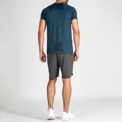 T-Shirt FTS 900 Fitness Cardio Herren blau