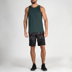 Short fitness cardio-training hombre FST 500 negro gris AOP