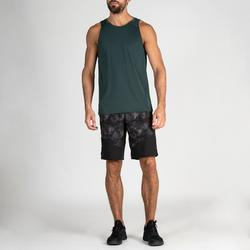 Sporthose kurz FST 500 Fitness Cardio AOP Herren schwarz/grau