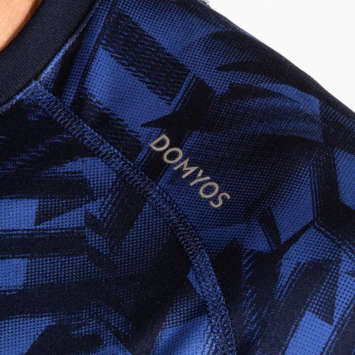 T-Shirt FTS 120 Fitness Cardio Herren blau AOP
