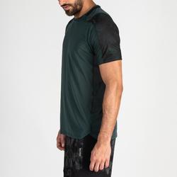 T-shirt voor cardiofitness heren FTS 500 kaki groen