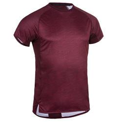 Camiseta cardio fitness training hombre FTS 120 burdeos AOP