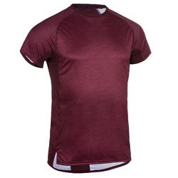 Tee shirt cardio fitness training homme FTS 120 bordeaux AOP