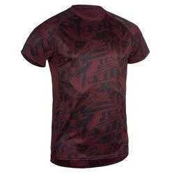 Cardiofitness T-shirt voor heren FTS 120 gemêleerd bordeaux