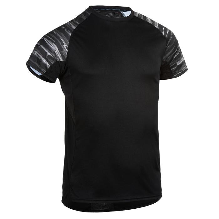T-Shirt FTS 120 Fitness Cardio Herren schwarz mit Print