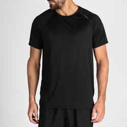 Camiseta manga corta Cardio Fitness Domyos FTS 100 hombre negro