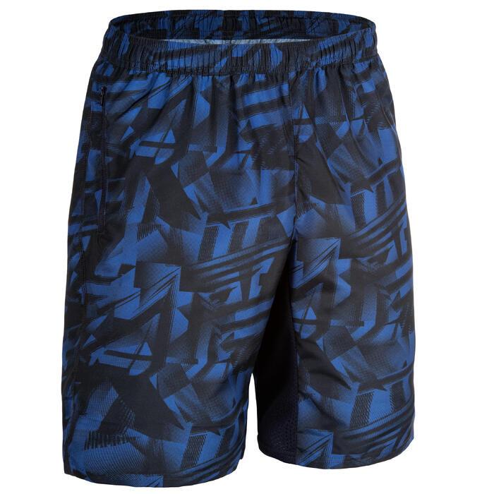 Short cardio fitness homme FST 120 bleu AOP