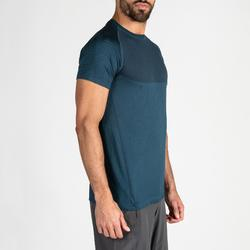 T-shirt voor cardiofitness heren FTS 900 blauw
