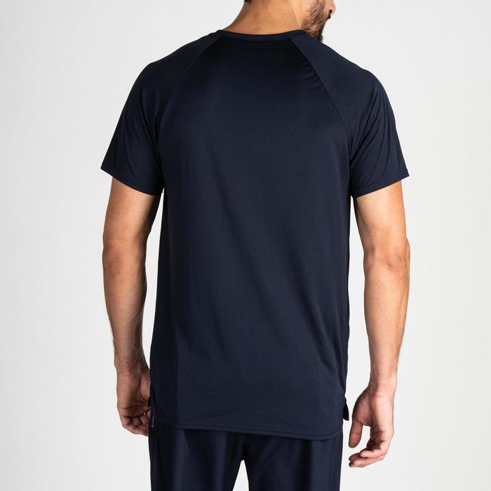 Camiseta de cardio fitness training hombre FTS 100 azul marino