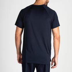 Fitness shirt FTS 100 voor heren, marineblauw