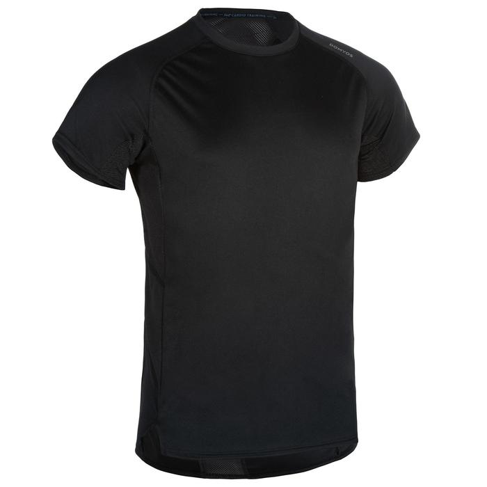 FTS 120 Fitness Cardio Training T-Shirt - Plain Black