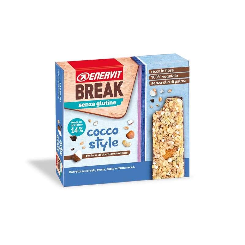 BARRETTE, GEL E RECUPERO Alimentazione - break cocco style 3 x 27g ENERVIT - Alimentazione