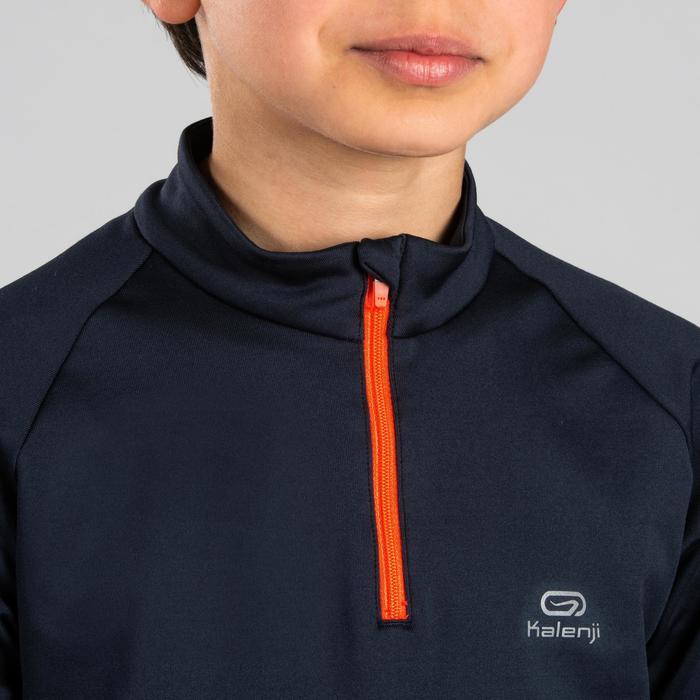 Sportshirt Langarm Leichtathletik Essential Kinder dunkelgrau