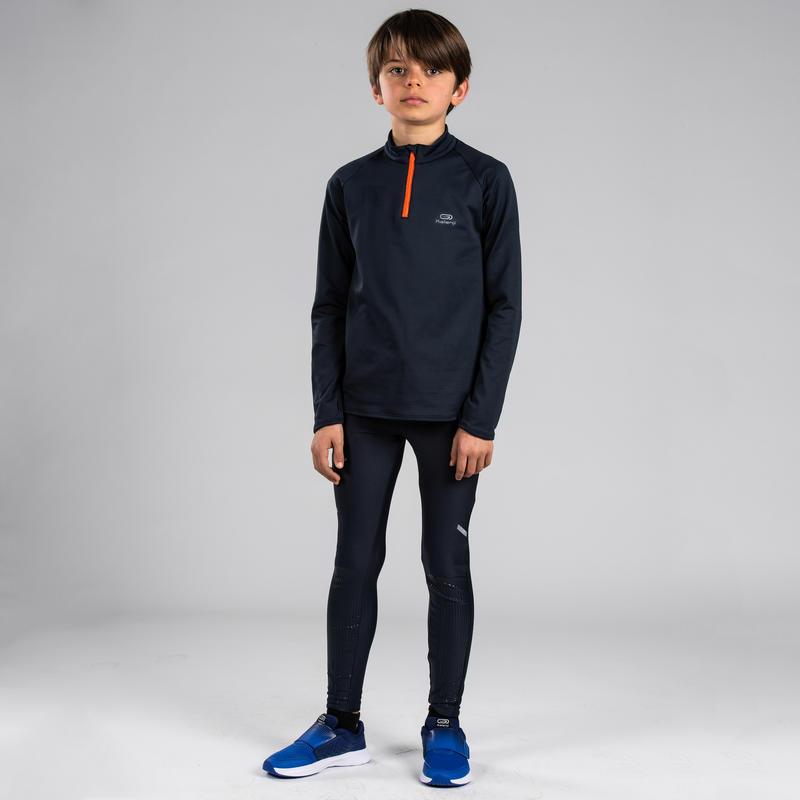 Camiseta Atletismo Essentiel Niños Gris Abismo Manga Larga
