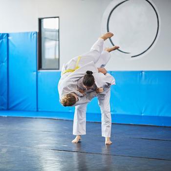 Kimono judo, aikido 100 adulte blanc
