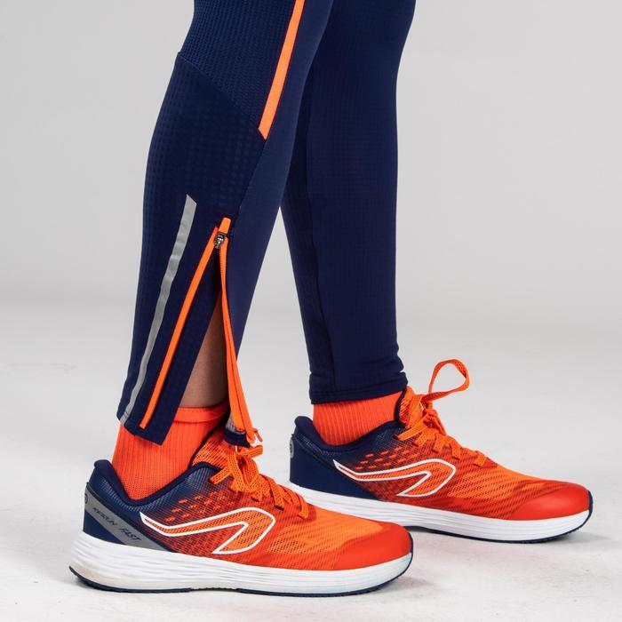 Laufhose Kiprun Leichtathletik Kinder blau/rot
