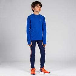 Atletiekbroek voor kinderen Kiprun blauw/rood