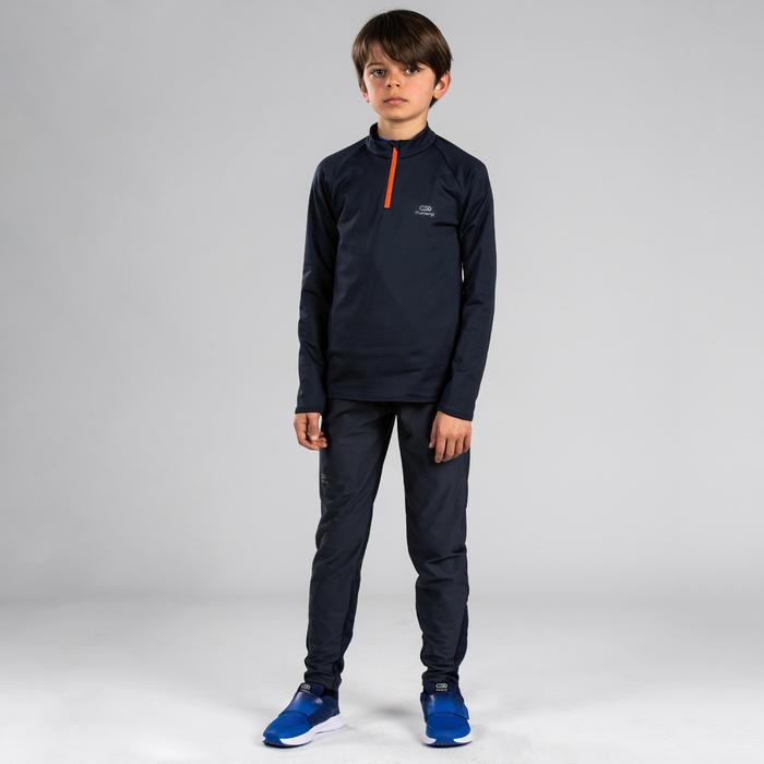 Pantalón Térmico Atletismo Kalenji Run Warm Niños Gris/Naranja