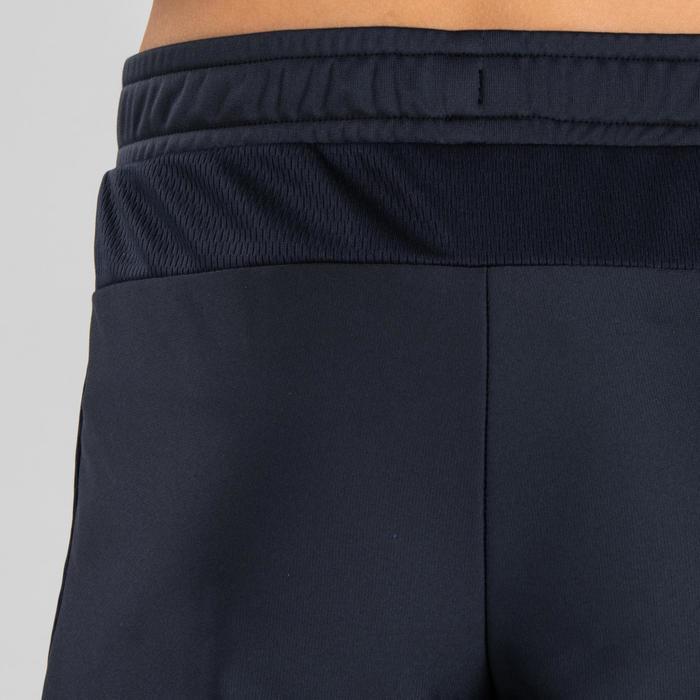 Pantalon chaud Athlétisme enfant gris orange fluo