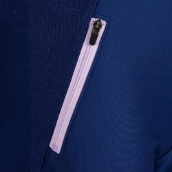 兒童田徑保暖運動褲 - 藍色紫紅色