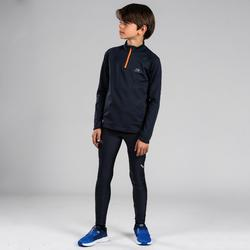 KIDS' ATHLETICS TIGHTS AT100 - ABYSS GREY