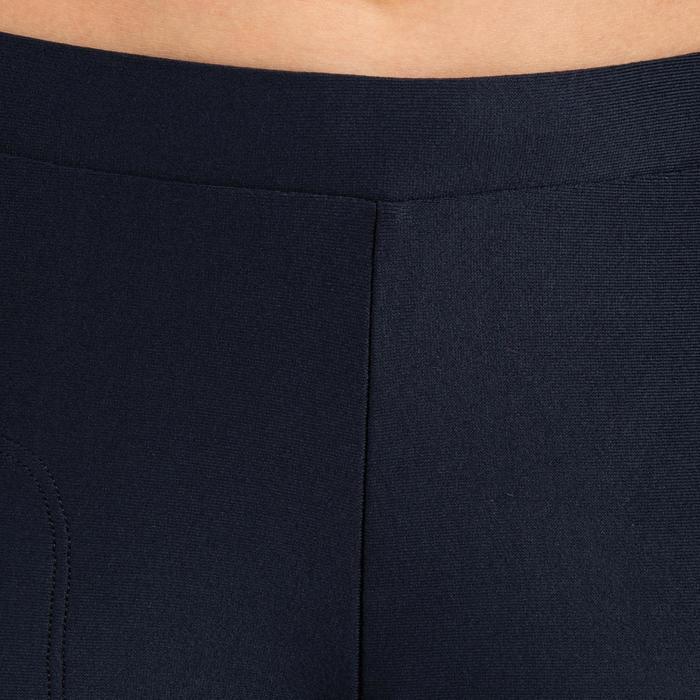 兒童款田徑緊身褲AT100 - 黑灰色