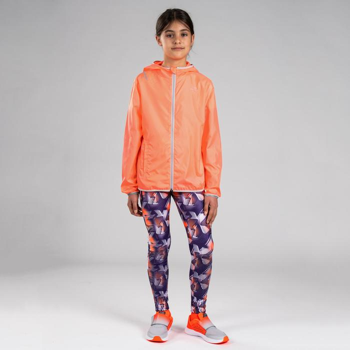 COUPE VENT ATHLETISME ENFANT ORANGE GRIS