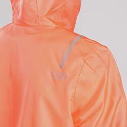 Lauf-Windjacke Leichtathletik Kinder orange/grau