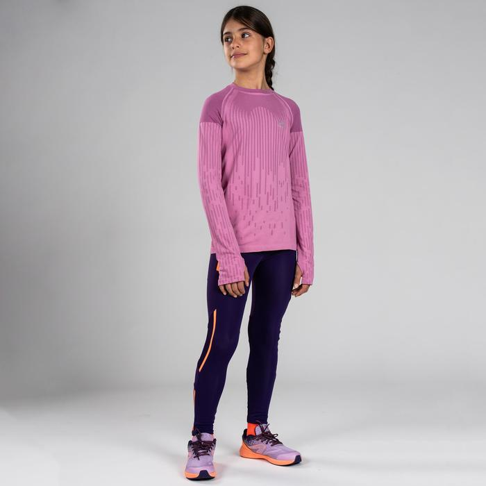 女童田徑長袖運動衫Skincare- 粉色