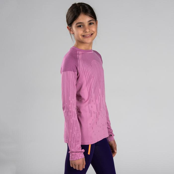 Atletiekshirt met lange mouwen voor meisjes Skincare roze